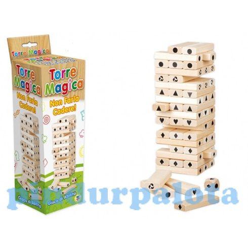 Ügyességi játékok - Mágikus torony társasjáték fából