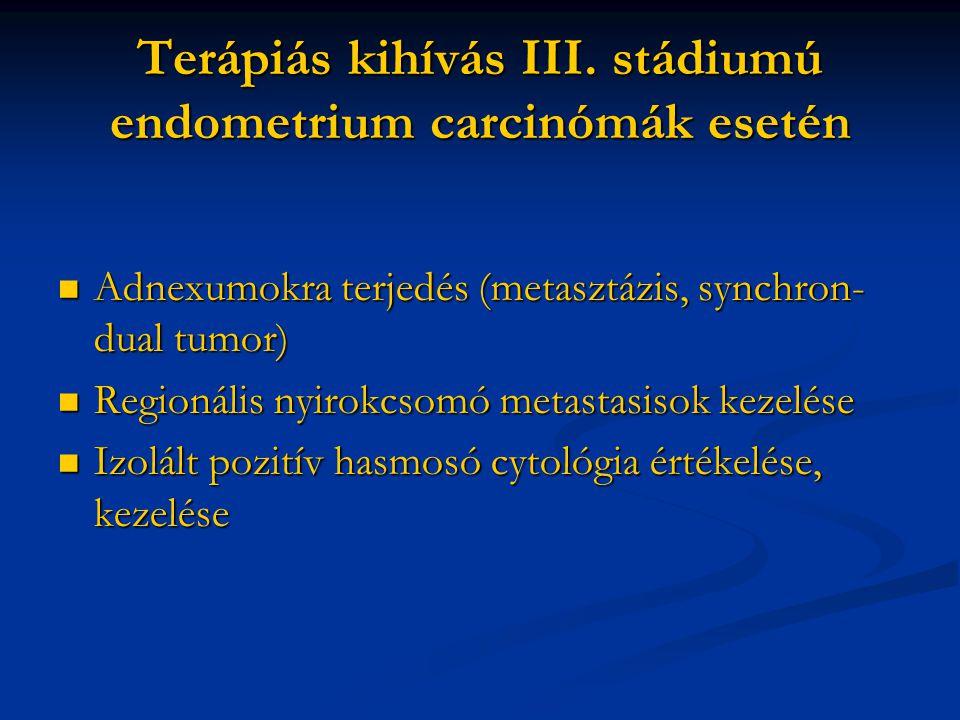a nyirokcsomók endometrium rákja